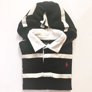 Boys Ralph Lauren Polo Black White Stripe Hoodie 6